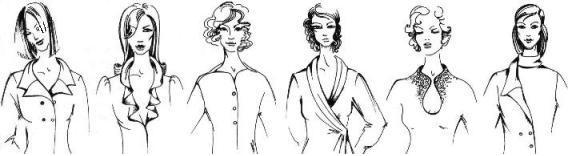 Фантазийные воротники женского платья