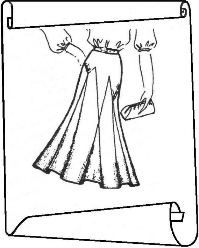 Юбка с кокеткой с клиньями