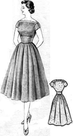 Горловина на сборке платье