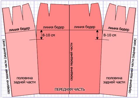 Сшить юбку с запахом без шва 33