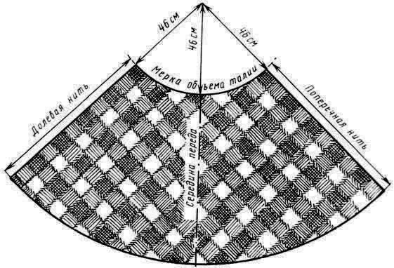 Юбка в пол полусолнце с одним швом