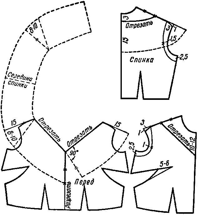 Как сшить воротник на трикотажном платье 44