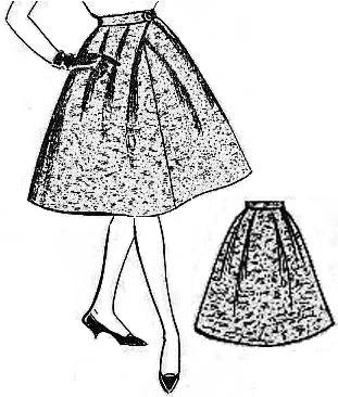Как из вытачек сделать складки на юбки